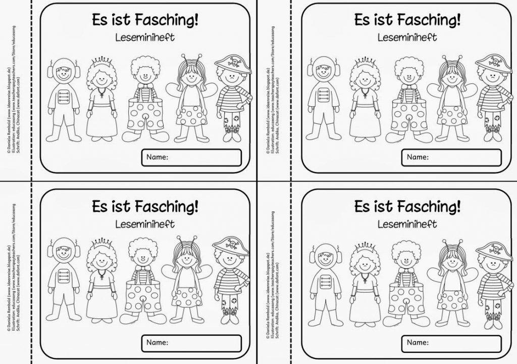 Ideenreise Blog Leseminiheft Zur Faschingszeit