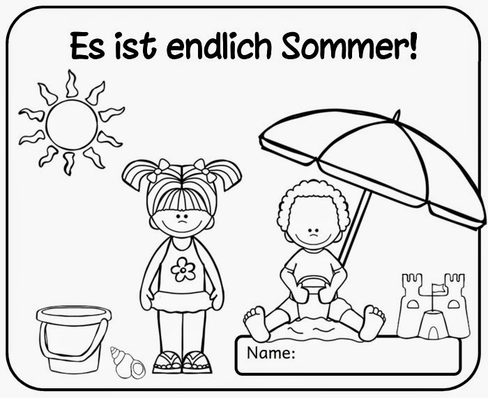 Colorful Kinder Sommer Arbeitsblatt Elaboration - Mathe Arbeitsblatt ...