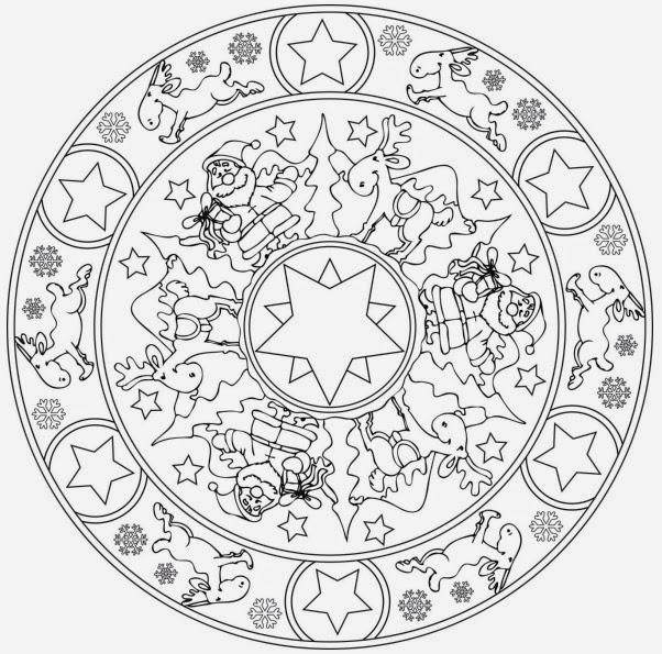 Ideenreise Blog Weihnachtliche Mandalavorlage