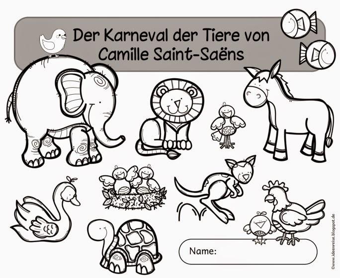 Ideenreise Blog Arbeitsheft Zum Karneval Der Tiere Von Camille