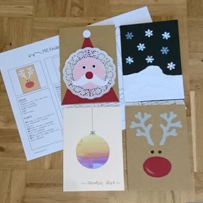 Weihnachtskarten Basteln Vorlagen.Ideenreise Blog Weihnachtskartenbastelei Kleine Sammlung Mit